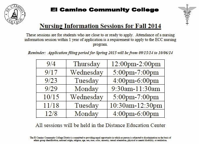Information Sessions