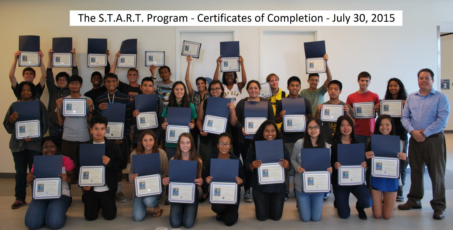 START Program 2015 - Certificates of Completion