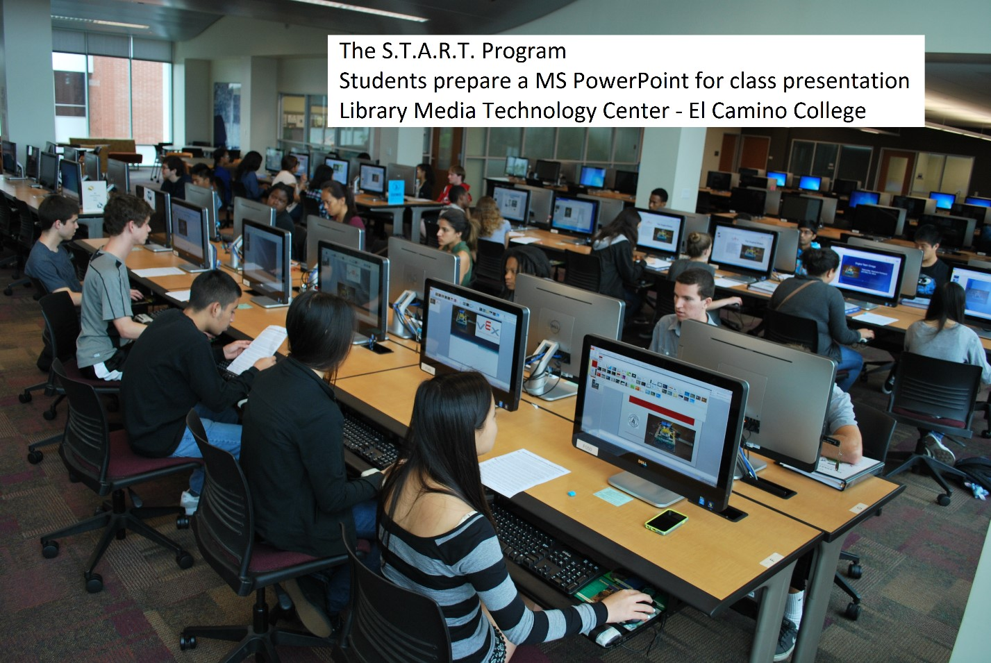 START Program 2015 - students create a MS PowerPoint