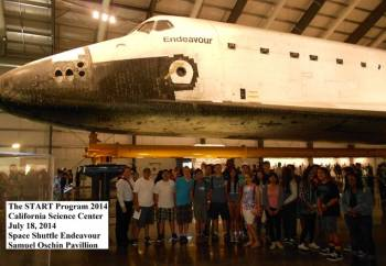 The Space Shuttle Endeavour at the California Science Center in Los Angeles