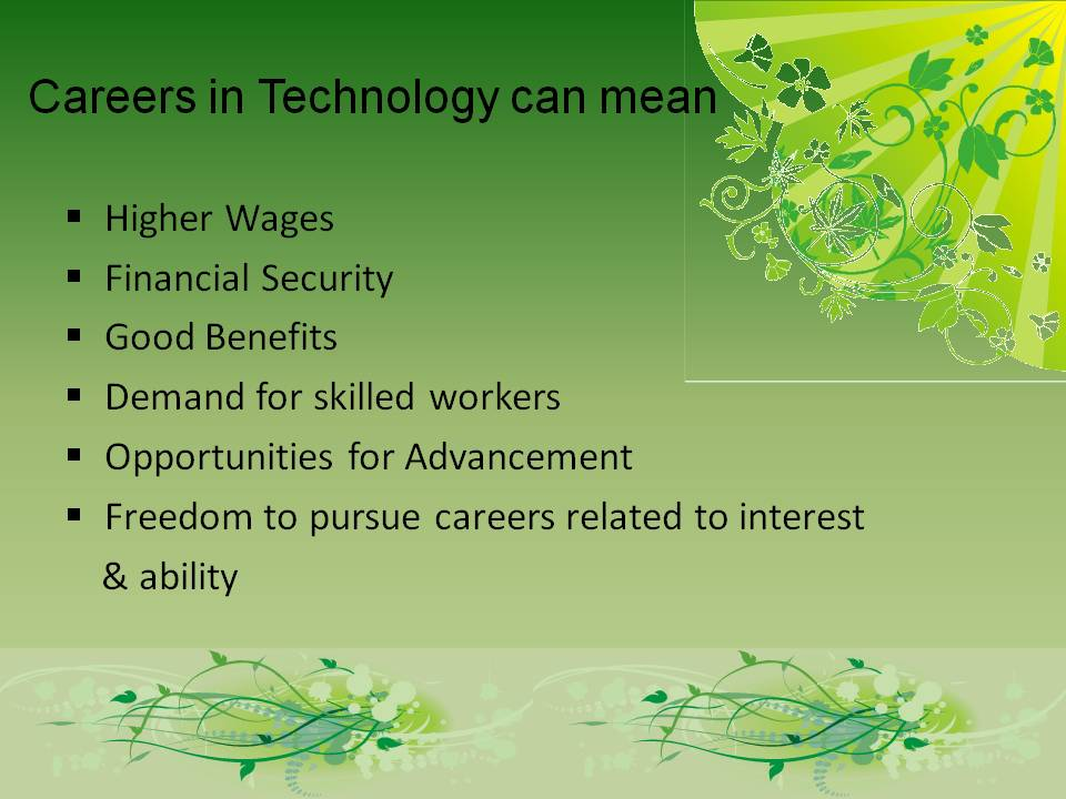 Careers in Technology