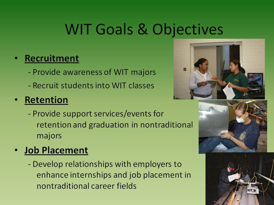 WIT - Goals & Objectives