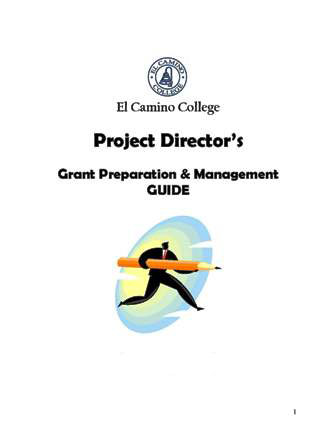 Project Director's Resources Guide