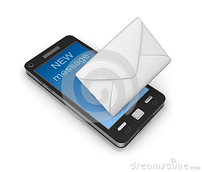cell phone receiving email