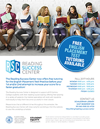 Reading Success Center General Flyer Fall 2017