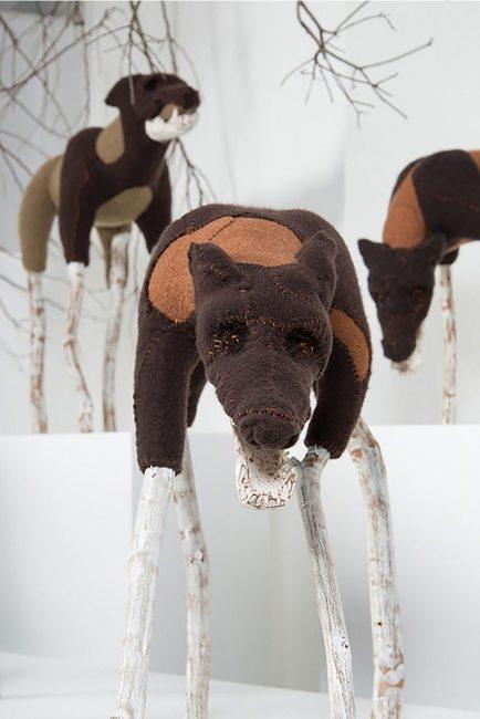 Samuelle Richardson; Ghost Dogs 2; mixed media; 4' x 7' x 4'