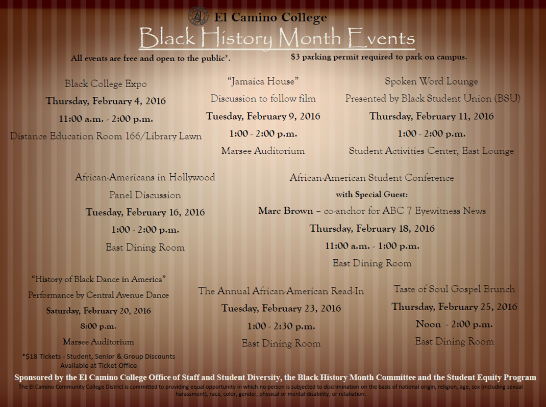 Revised Calendar of Events