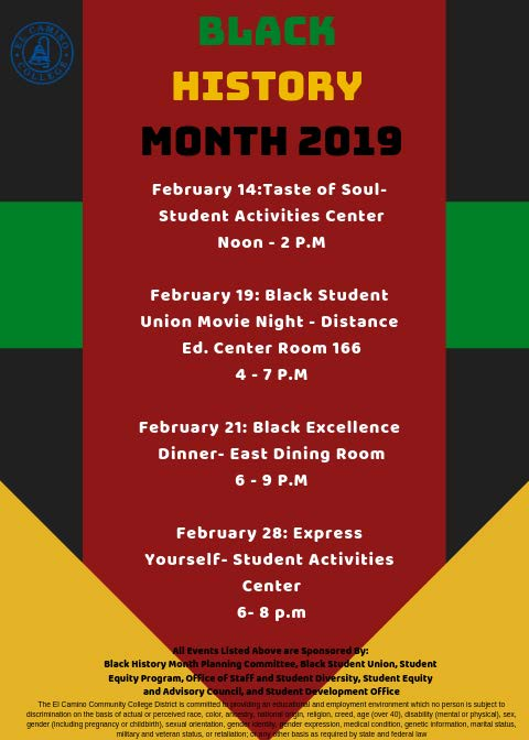 2019 Black History Month Events