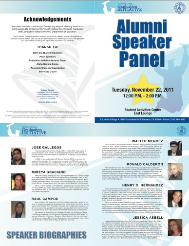 speaker panel fall 2011 bio brochure