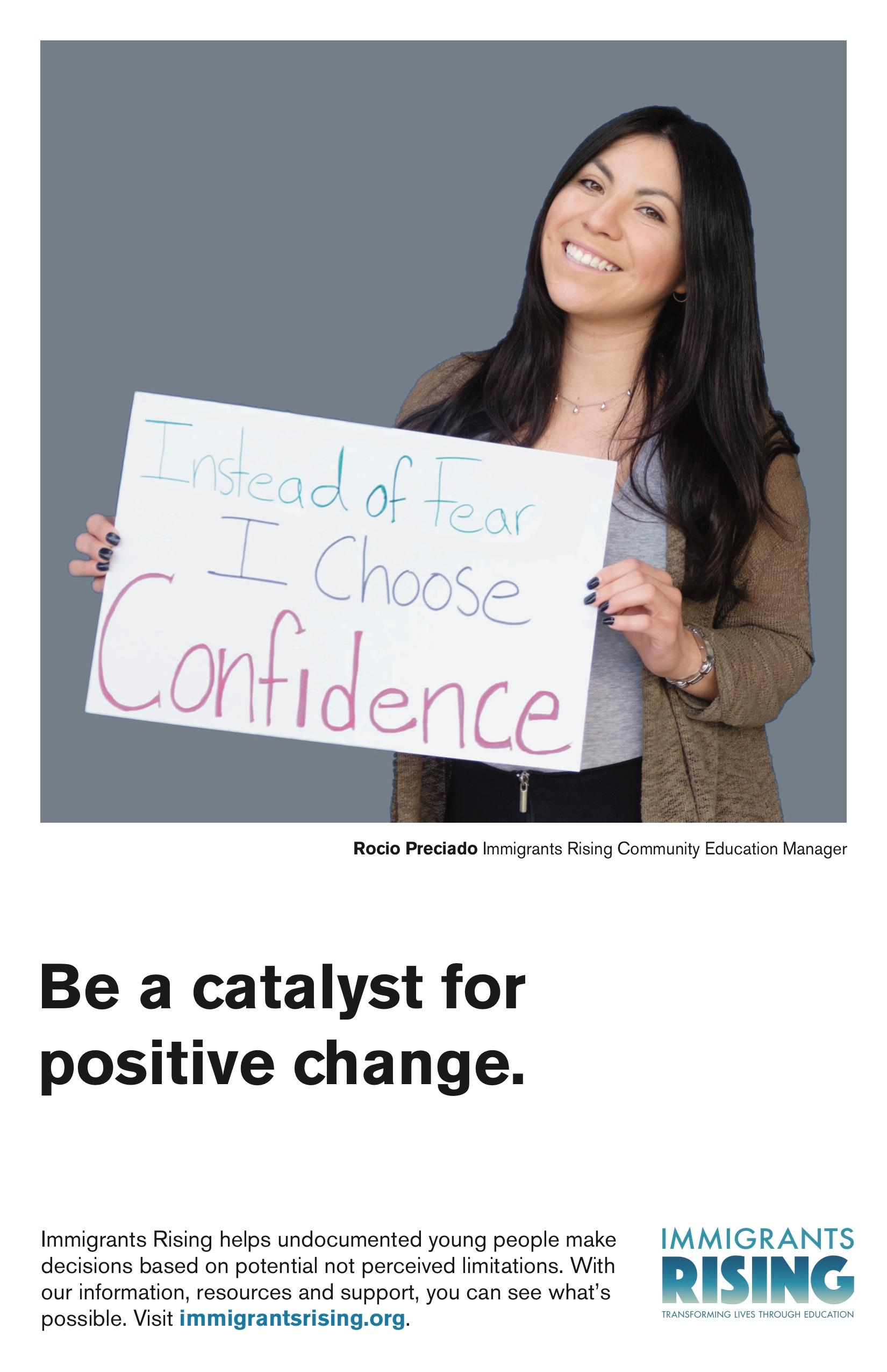Be a catalyst for positive change