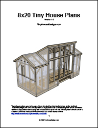 Tiny Market House Plans 8x20