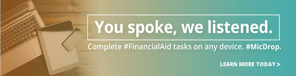 Complete Financial Aid Tasks Online!