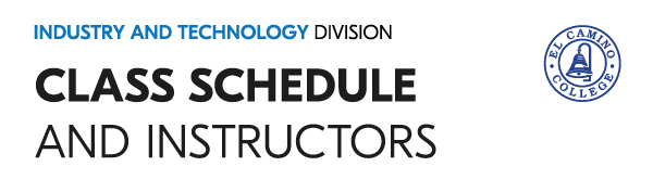 Class Schedule and Instructors