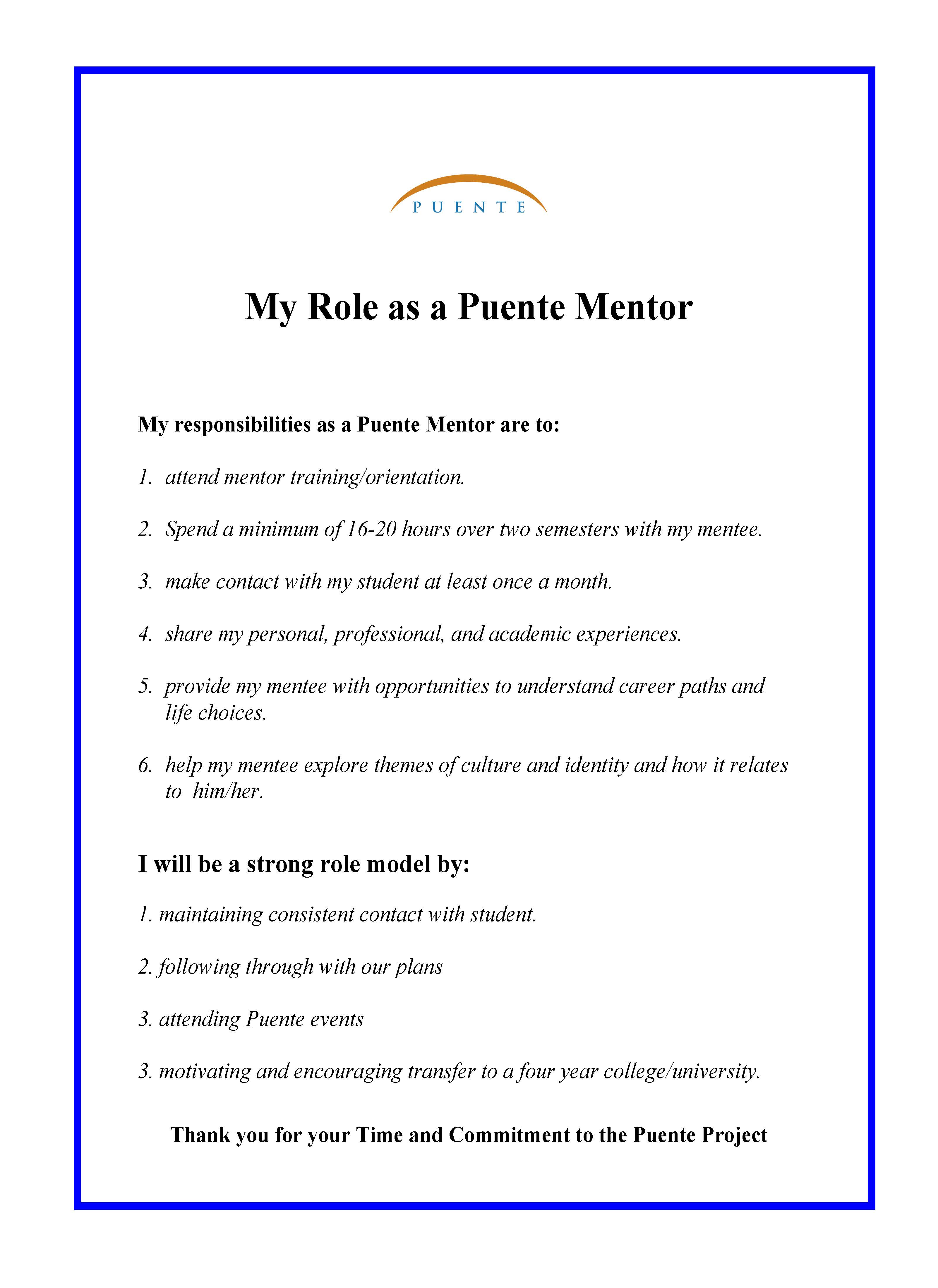 Mentor role