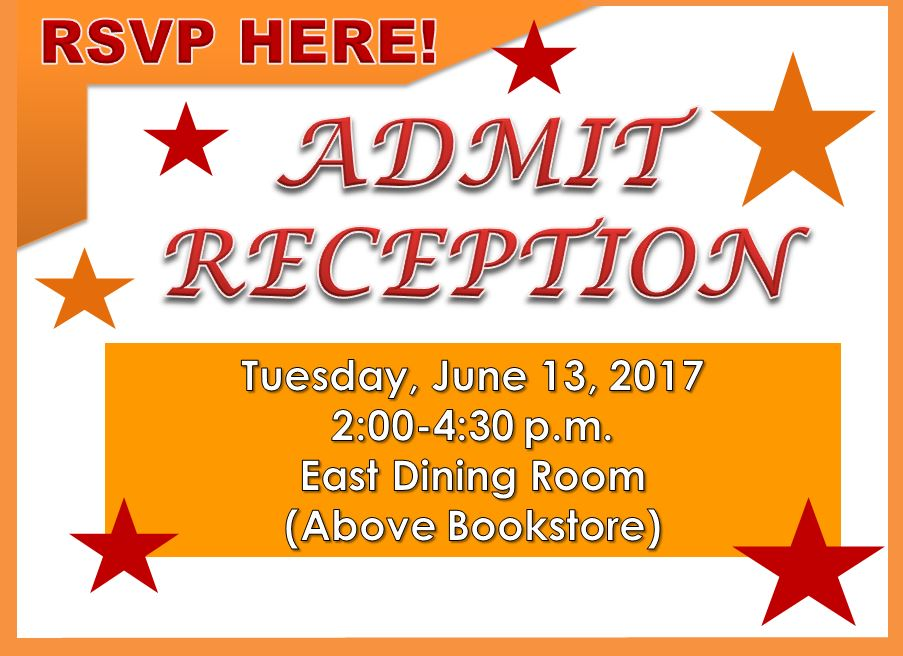 2017 Admit Reception RSVP