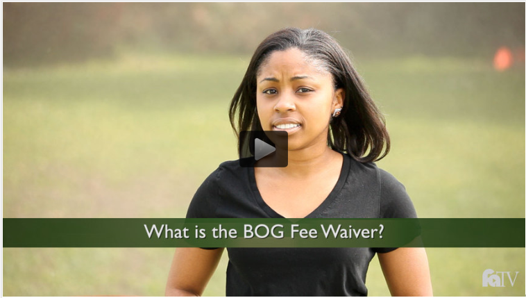 Information on the Board of Governor's Fee Waiver