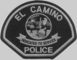 El Camino Police Patch, Black and White