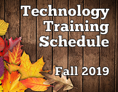 Fall 2019 Technology Schedule