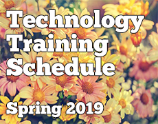 Spring 2019 Technology Schedule
