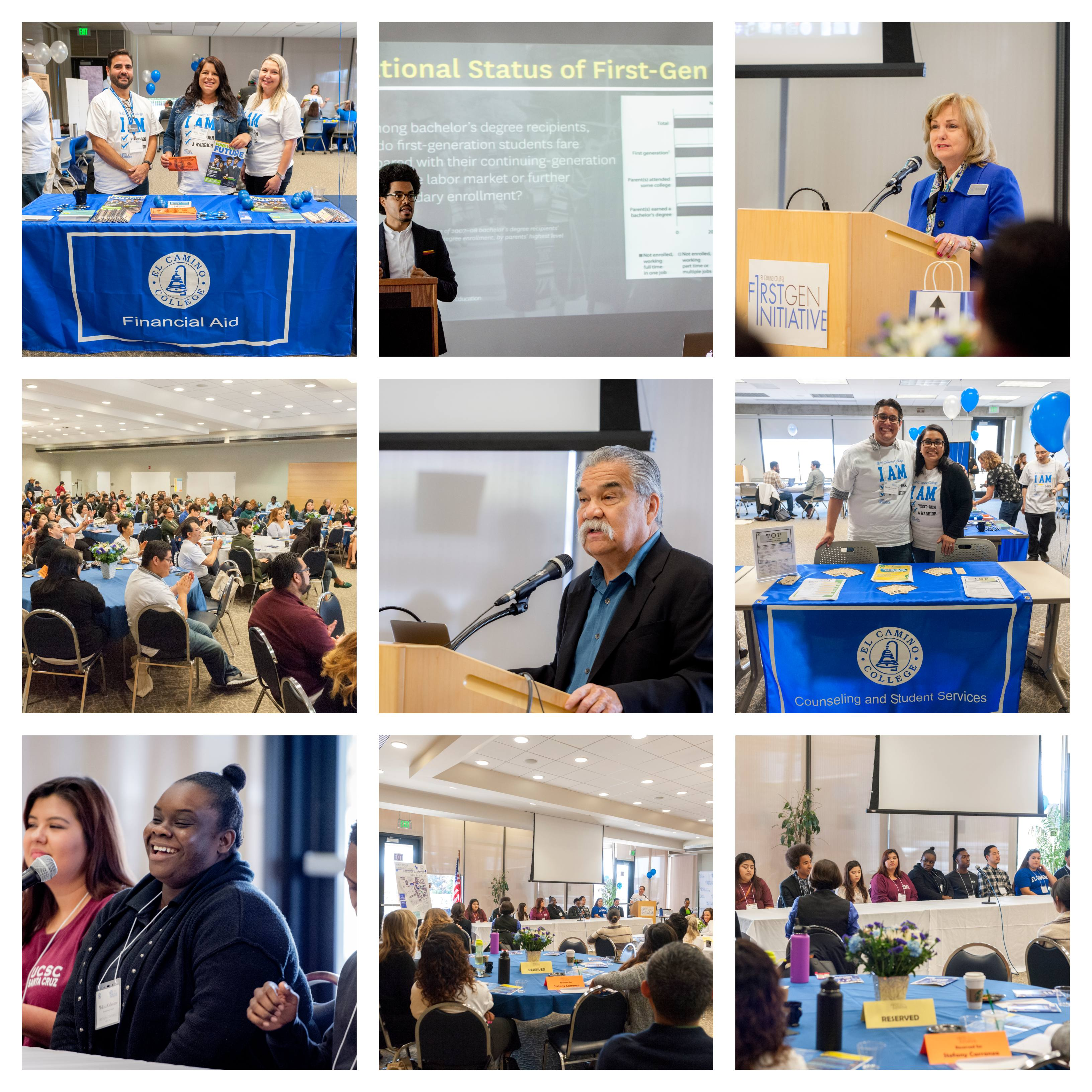 Photo Collage of First-Gen Conference