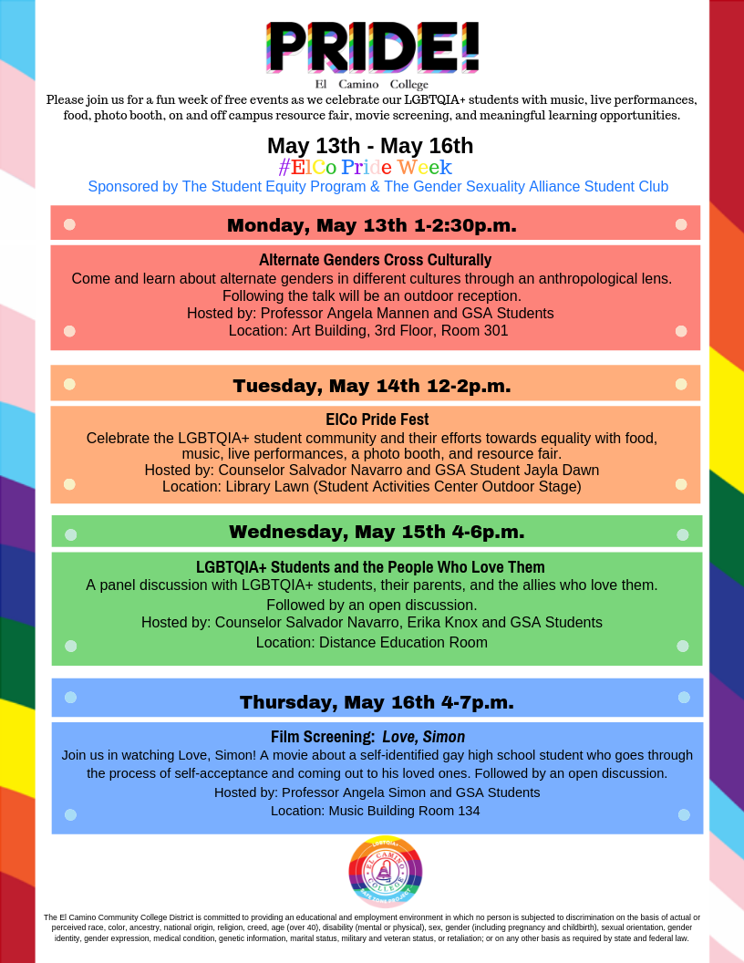 2019 Pride Events Flyer