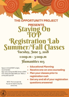 Staying on TOP (Registration Lab) Fall
