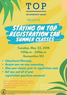 Staying on TOP (Registration Lab) Summer