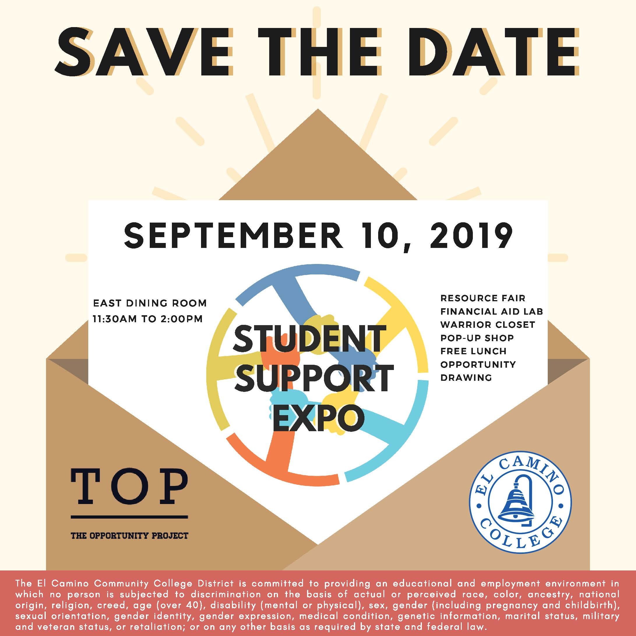 Student Support Expo Fall 2019 Save the Date