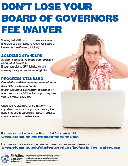 Don't Lose Your Board of Governors Fee Waiver
