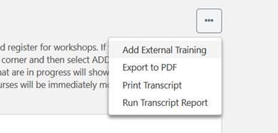 Add External Training