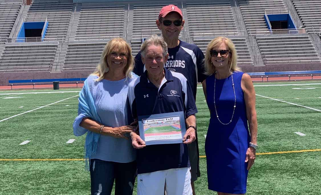 The El Camino Community College District Board of Trustees voted at its July 17 meeting to name the athletic field inside Murdock Stadium after longtime football coach John Featherstone.