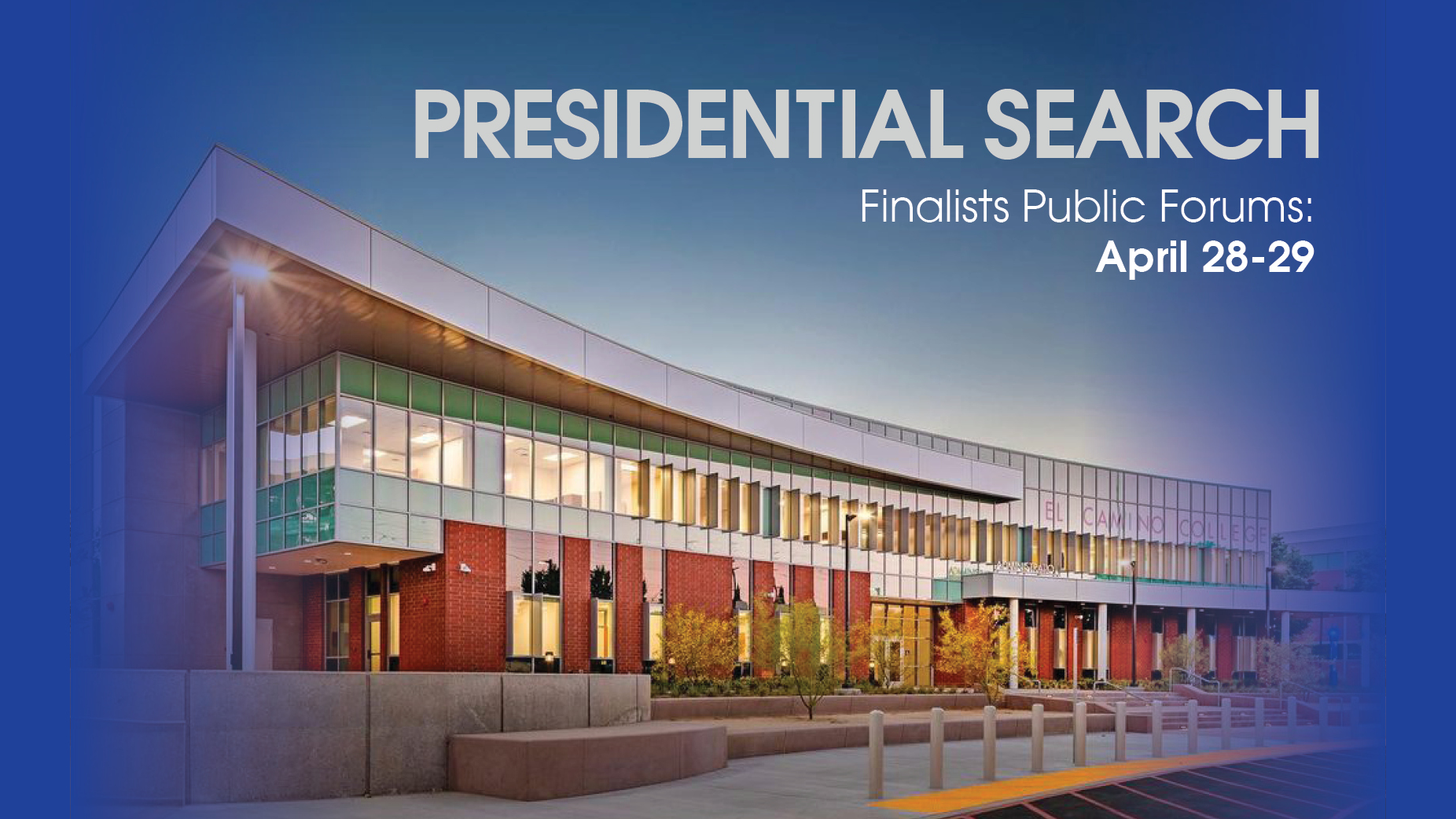 Finalists Are Named for Superintendent/President