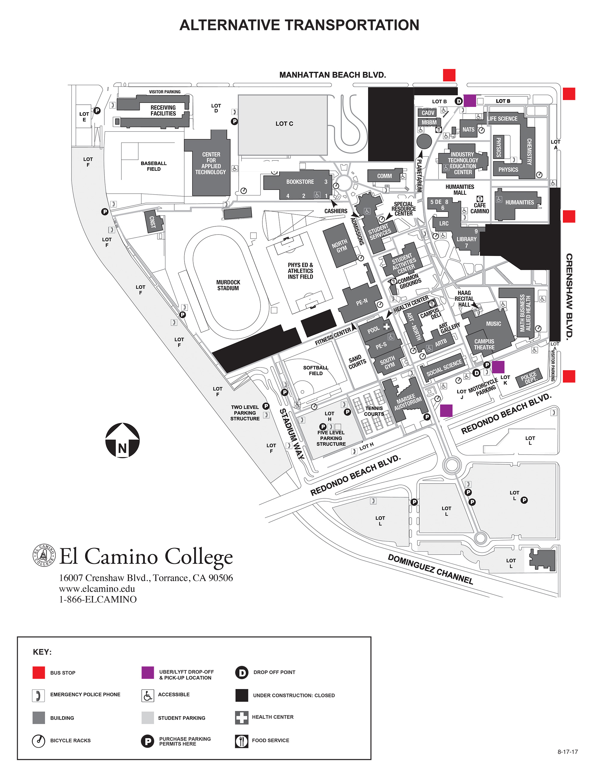 El Camino Map Parking & Transportation