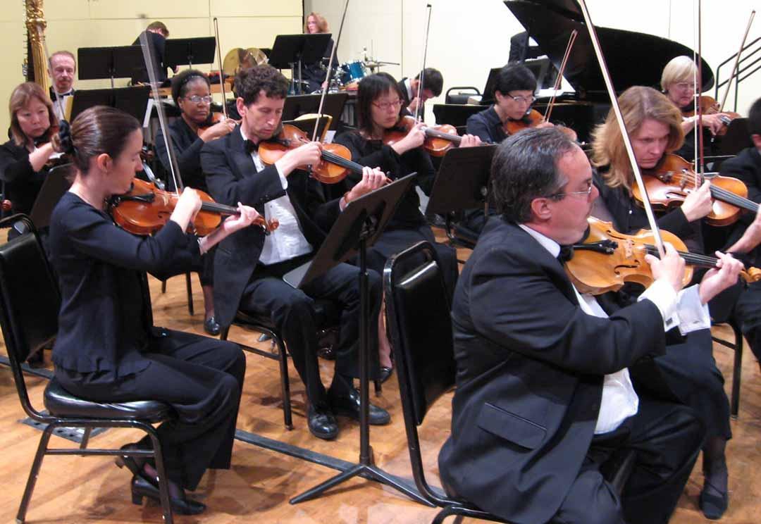 Orchestra violins