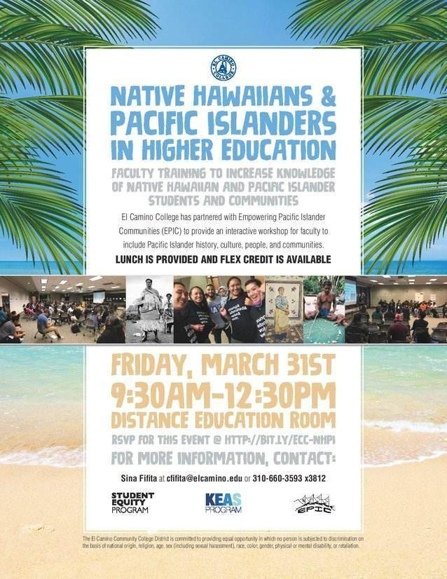 Native Hawaiian and Pacific Islander Faculty Training in Spring 2017.