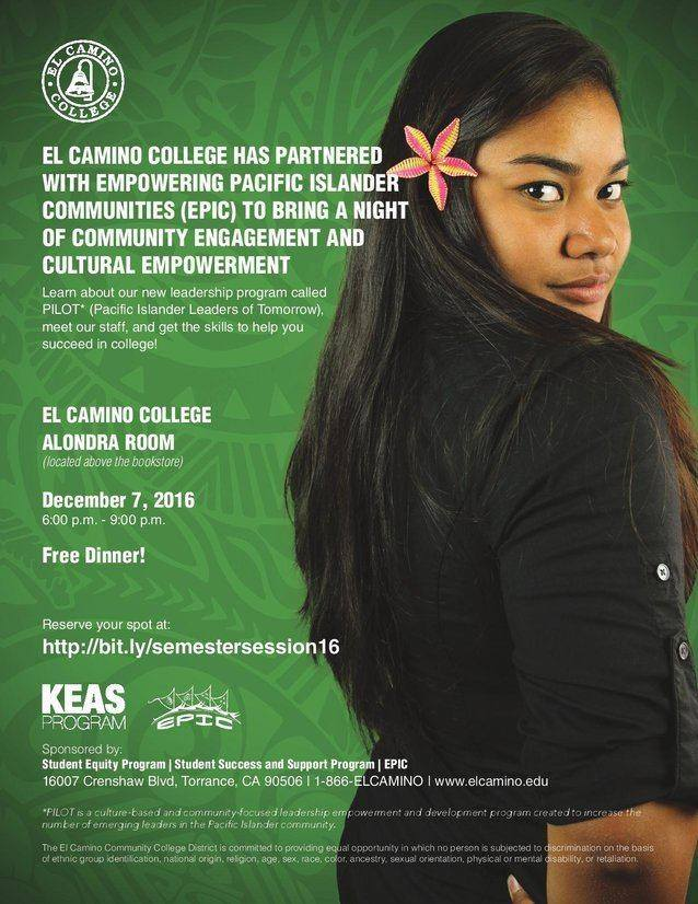 Pacific Islander Leaders of Tomorrow (PILOT) Session 4 in Fall 2016