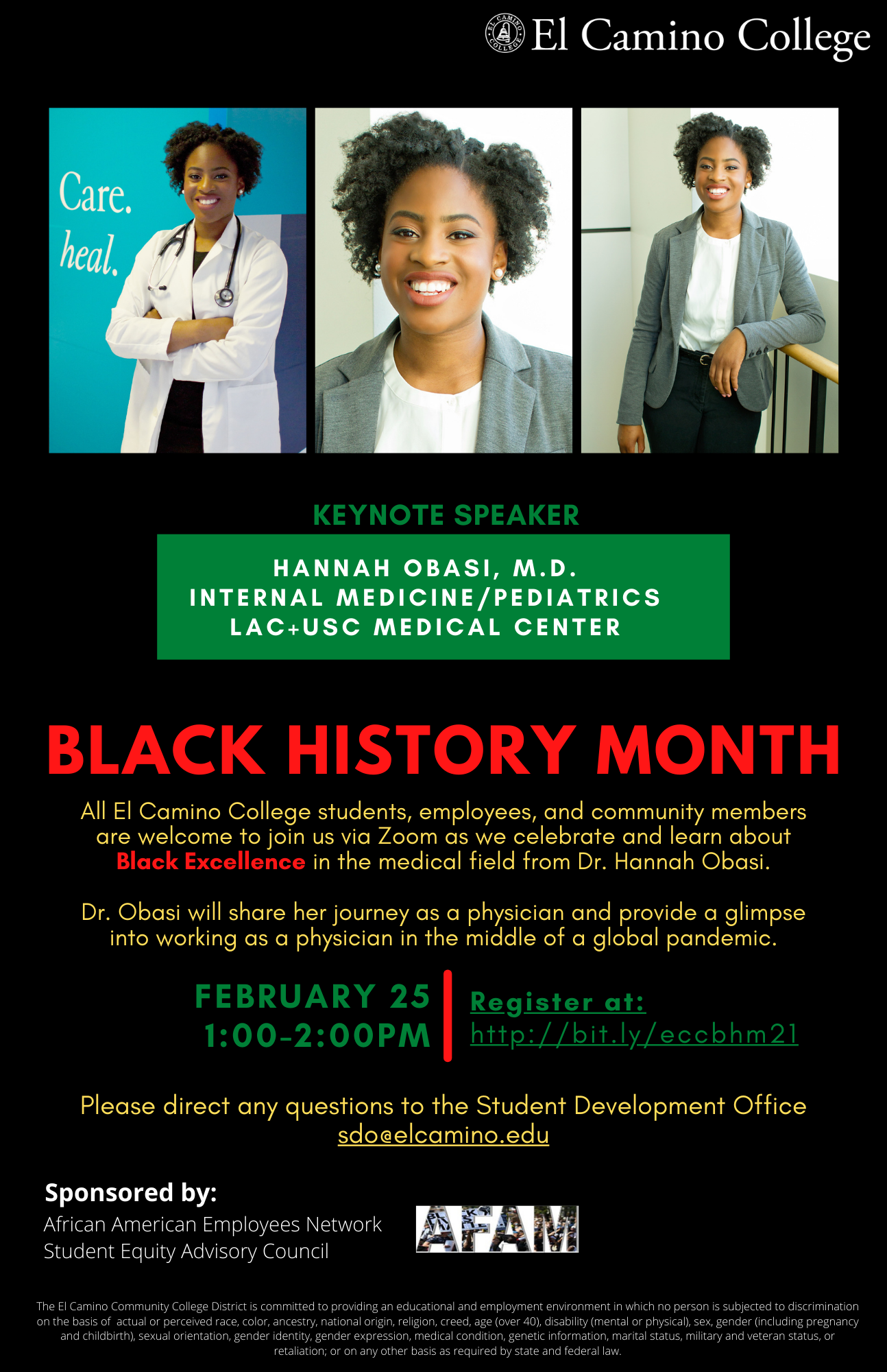 Black History Month Keynote Address Flyer