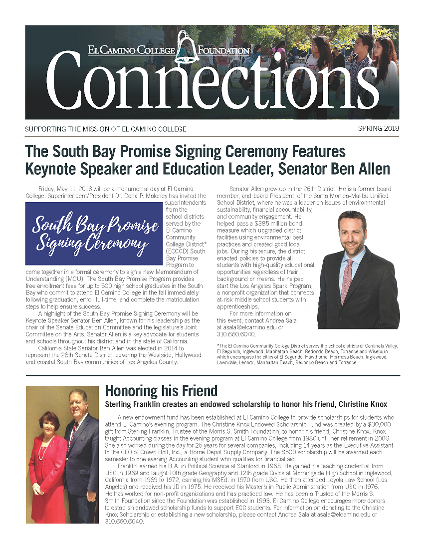 Spring 2018 Connections Newsletter