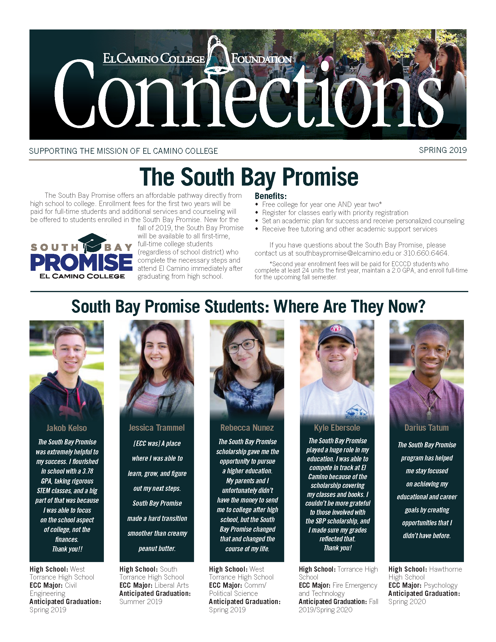 Spring 2019 Connections Newsletter