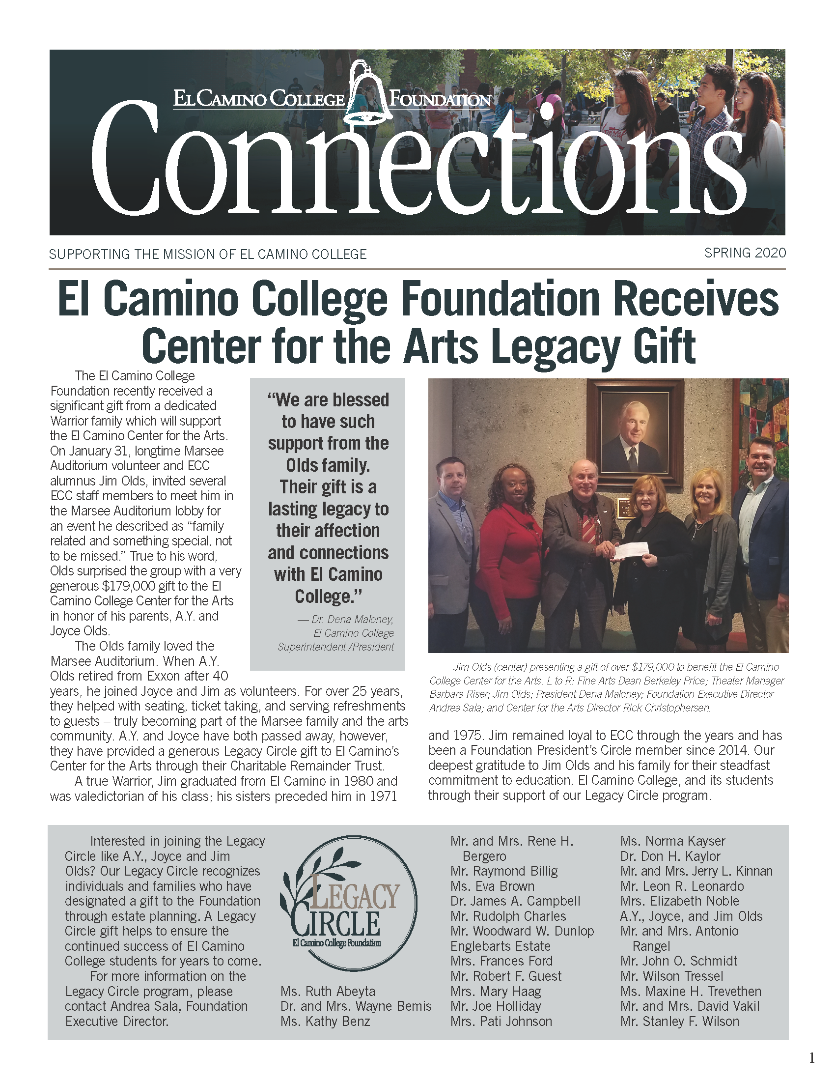 Spring 2020 Connections Newsletter