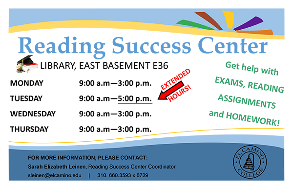 Reading Success Center Fall 2015 Flyer