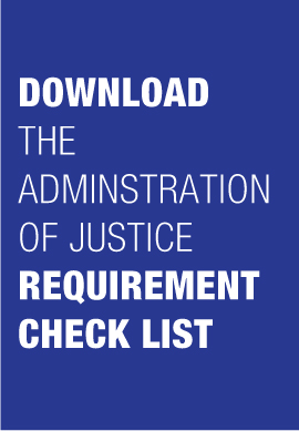 Administration of Justice Check List Banner