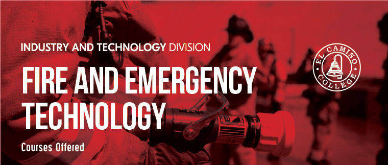 Fire and Emergency Technology Courses Offered Banner