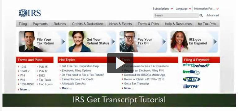 How to Request IRS Tax Transcripts
