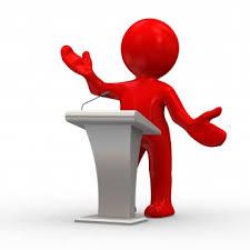 presenter at podium