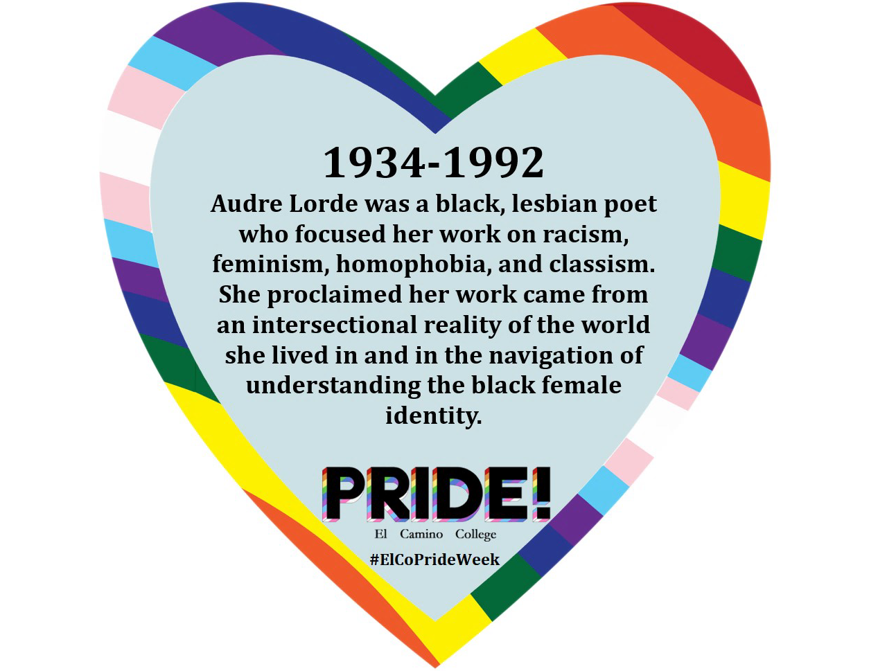 Audre Lorde Heart Fact