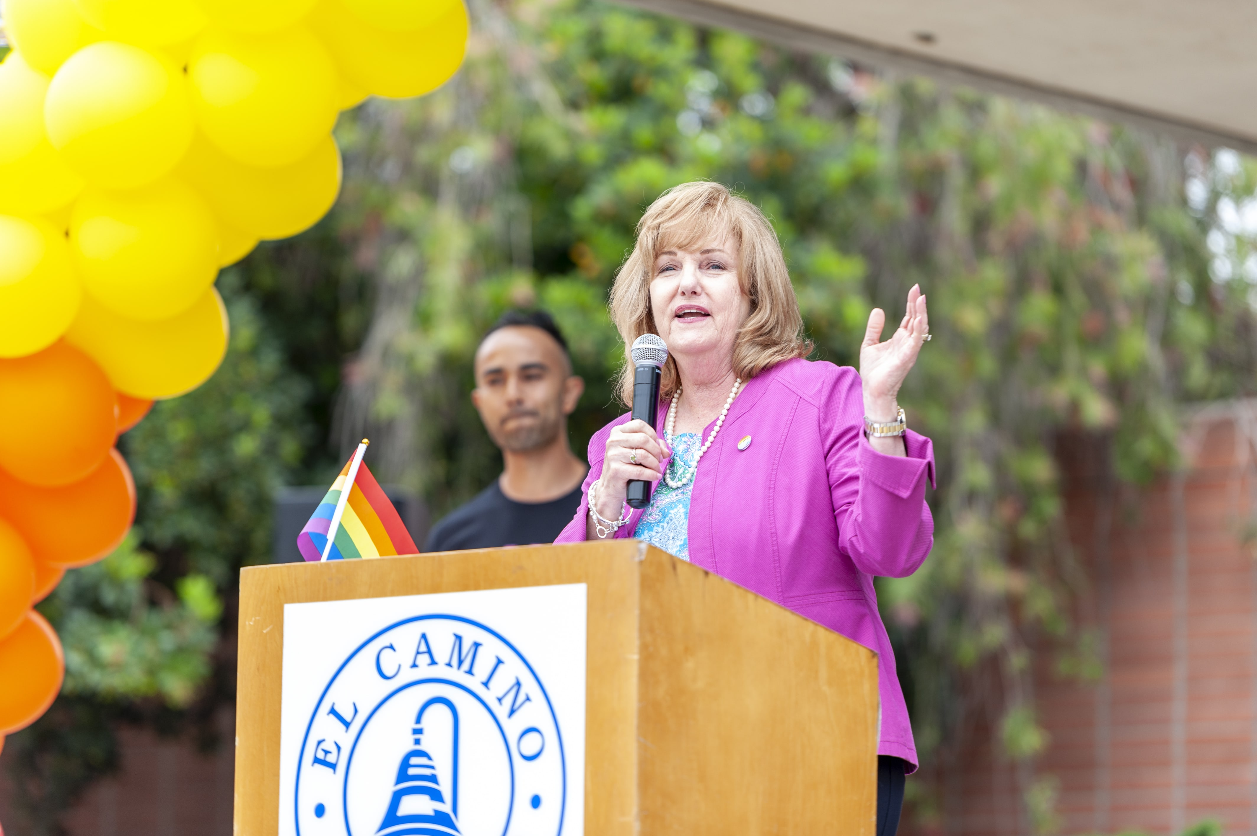 President Maloney Speaking at Pride