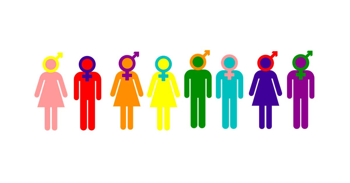 Colorful graph depicting various sexual and gender identities