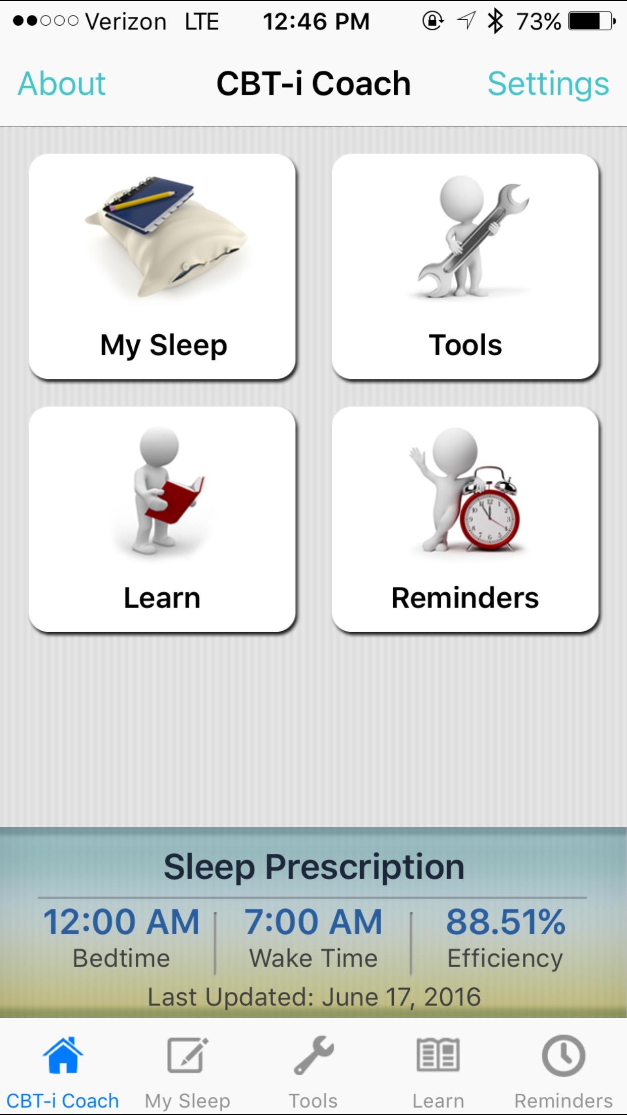 CBTI App Screenshot