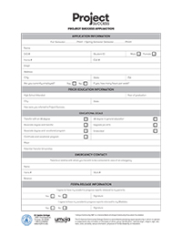 Project Success Application Form
